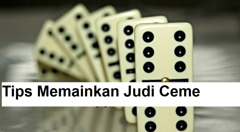 Tips Memainkan Judi Ceme